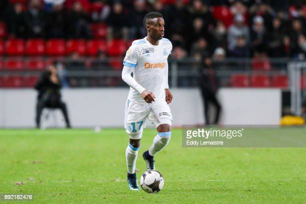 Bouna Sarr of Marseille during the french League Cup match Round of 16 between Rennes and Marseille on December 13 2017 in Rennes France