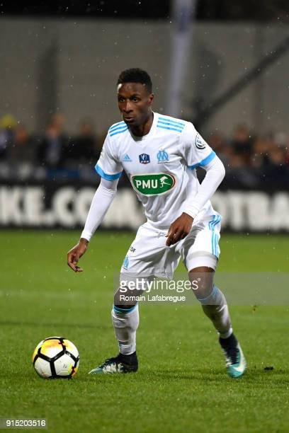 Bouna Sarr of Marseille during the French National Cup match between Bourg en Bresse and Marseille on February 6 2018 in BourgenBresse France