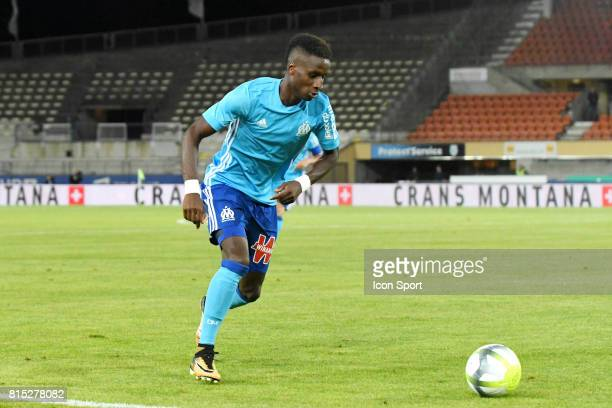 Bouna Sarr of Marseille during the friendly match between Olympique de Marseille and Fenerbahce on July 15 2017 in Lausanne Switzerland