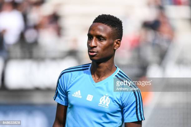 Bouna Sarr of Marseille during the Ligue 1 match between Amiens SC and Olympique Marseille at Stade de la Licorne on September 17 2017 in Amiens