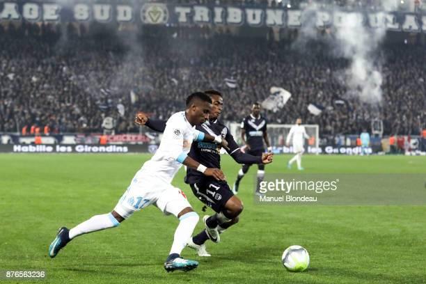 Bouna Sarr of Marseille during the Ligue 1 match between FC Girondins de Bordeaux and Olympique Marseille at Stade Matmut Atlantique on November 19...