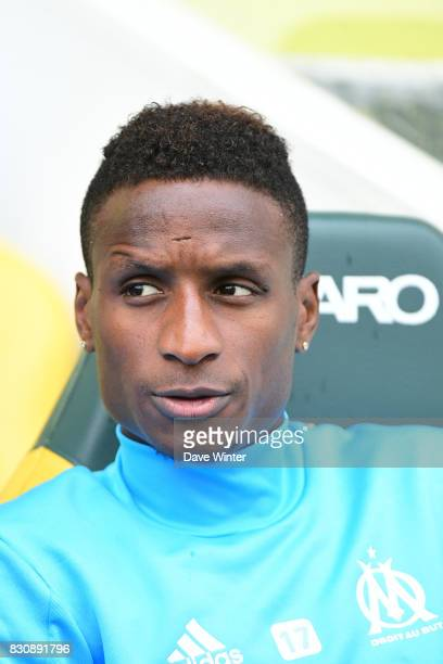 Bouna Sarr of Marseille during the Ligue 1 match between FC Nantes and Olympique Marseille at Stade de la Beaujoire on August 12 2017 in Nantes