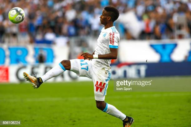 Bouna Sarr of Marseille during the Ligue 1 match between Olympique Marseille and Angers SCO at Stade Velodrome on August 20 2017 in Marseille