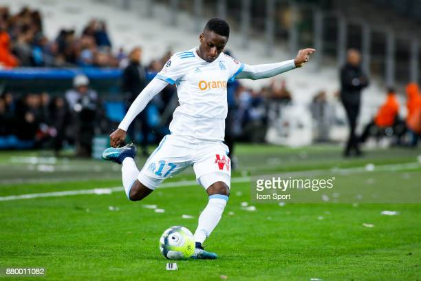 Bouna Sarr of Marseille during the Ligue 1 match between Olympique Marseille and EA Guingamp at Stade Velodrome on November 26 2017 in Marseille