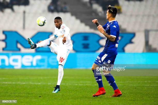 Bouna Sarr of Marseille during the Ligue 1 match between Olympique Marseille and Troyes AC at Stade Velodrome on December 20 2017 in Marseille