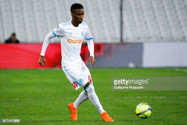 Bouna Sarr of Marseille during the Ligue 1 match between Olympique Marseille and Nantes at Stade Velodrome on March 4 2018 in Marseille