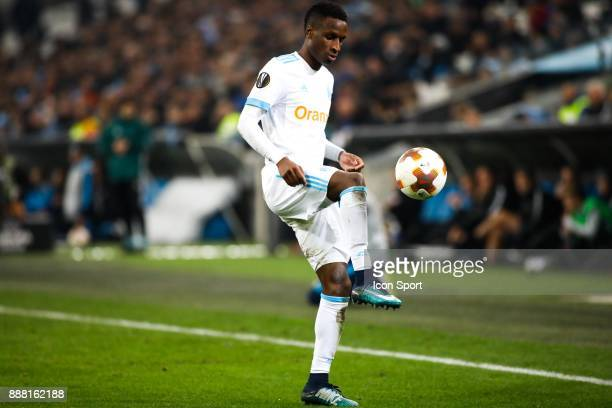Bouna Sarr of Marseille during the Uefa Europa League match between Olympique de Marseille and Red Bull Salzburg at Stade Velodrome on December 7...