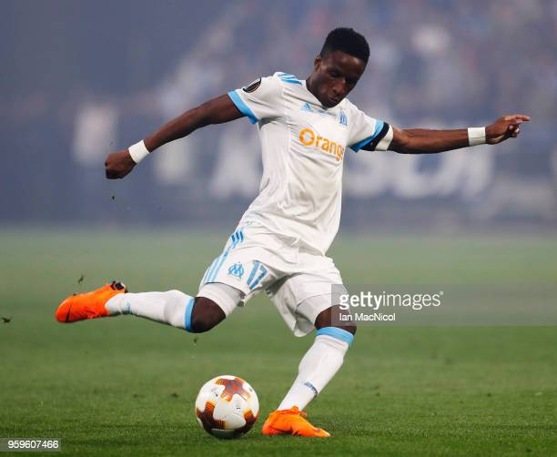 Bouna Sarr of Olympique de Marseille is seen during the UEFA Europa League Final between Olympique de Marseille and Club Atletico de Madrid at Stade...
