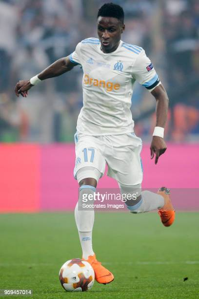 Bouna Sarr of Olympique Marseille during the UEFA Europa League match between Olympique Marseille v Atletico Madrid at the Parc Olympique Lyonnais on...