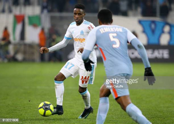 Bouna Sarr of OM during the French Ligue 1 match between Olympique de Marseille and AS Monaco at Stade Velodrome on January 28 2018 in Marseille...