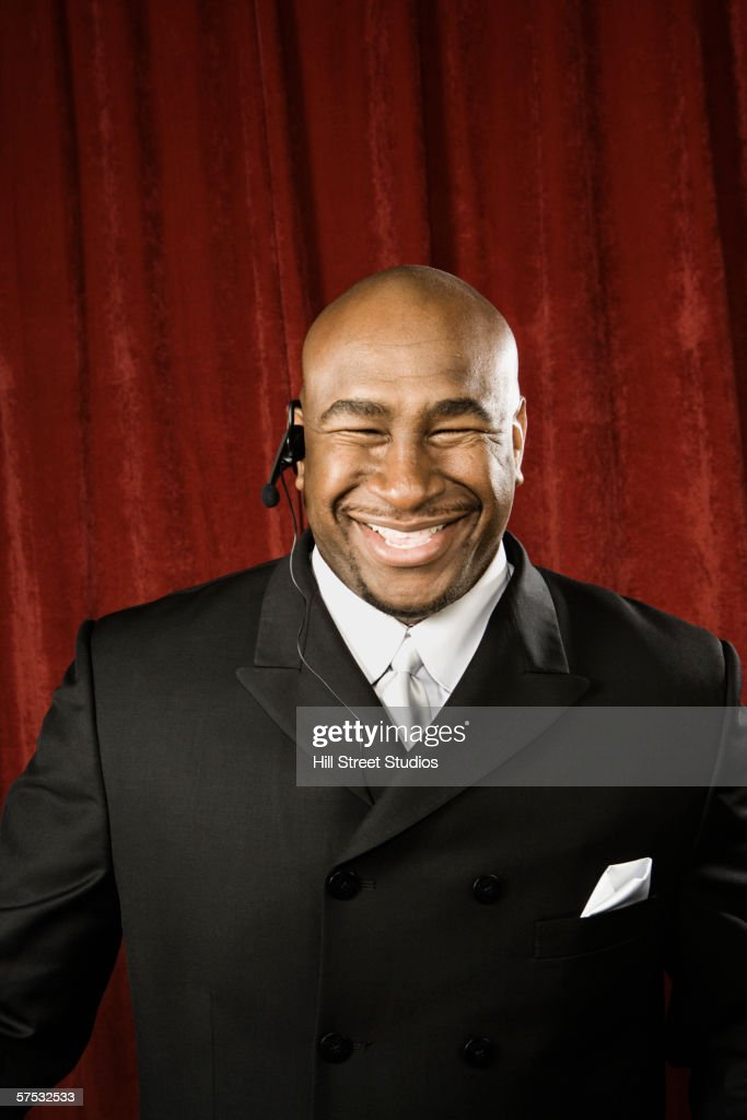Bouncer smiling : Stock Photo