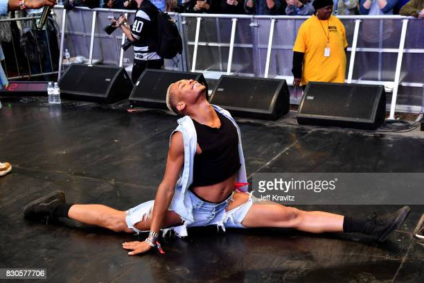 Bouncin' for beignets with Big Freedia Brenda's Soul Food onstage during the 2017 Outside Lands Music And Arts Festival at Golden Gate Park on August...