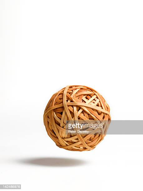 Bouncing ball of rubber bands