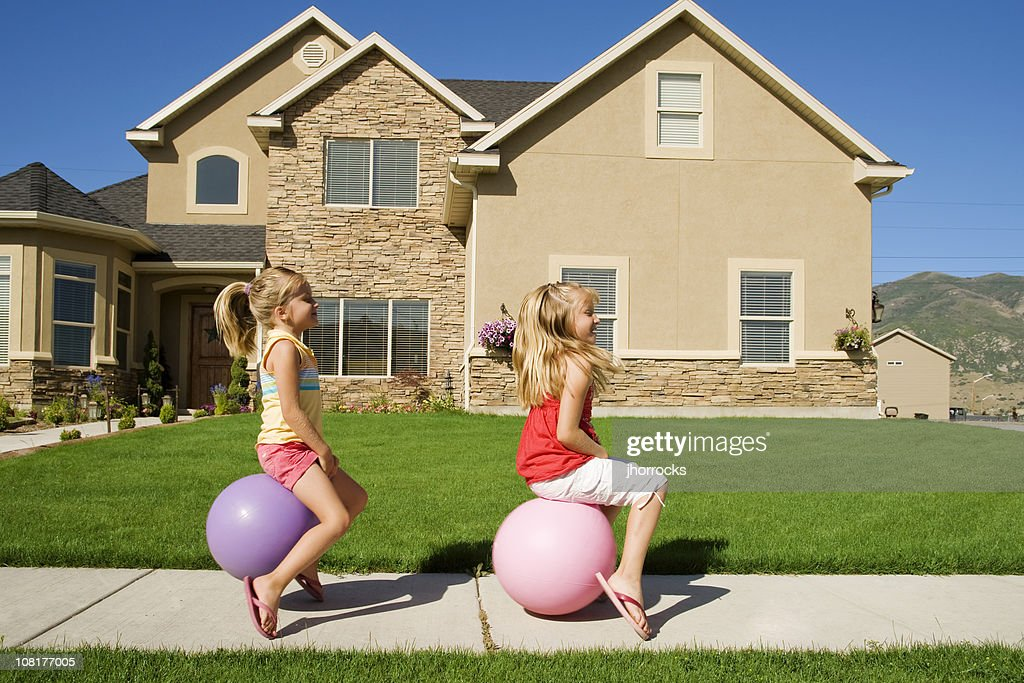 Bouncing Down The Street : Stock Photo