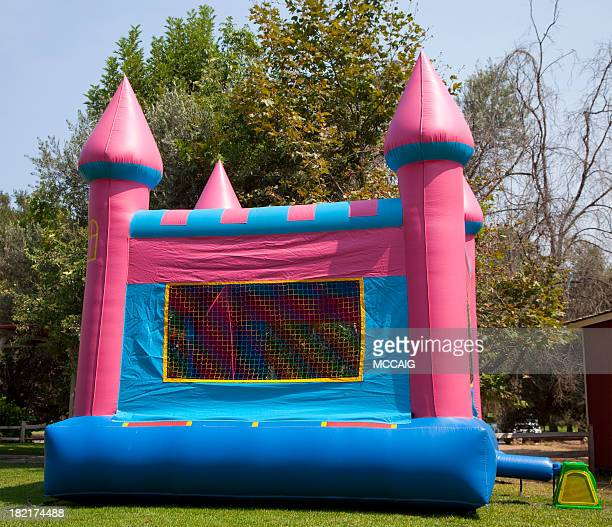 bouncy castle - bouncing stock pictures, royalty-free photos & images
