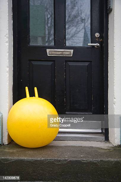 Bouncy toy outside house front door