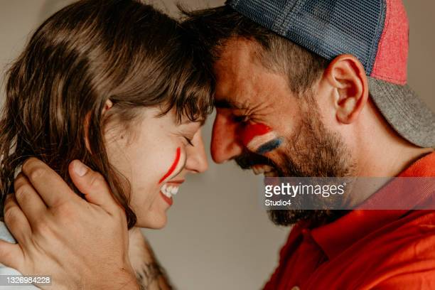 boundaries are erased for our love - international match stock pictures, royalty-free photos & images