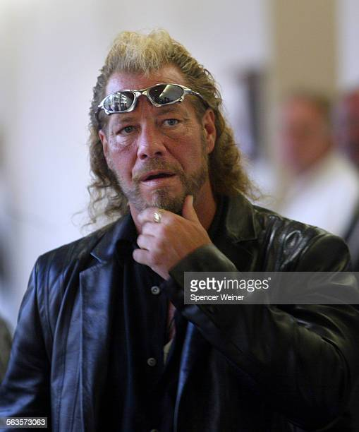 Bounty hunter Duane Lee Chapman Monday July 7 arrives at Ventura County Superior Court Chapman is credited with tracking down fugitive rapist Andrew...