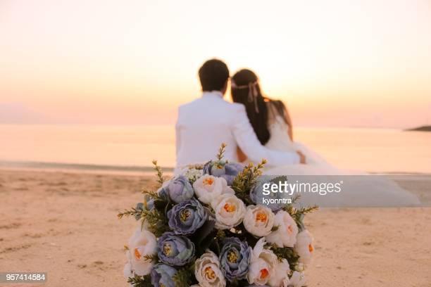 Bouquet à la plage