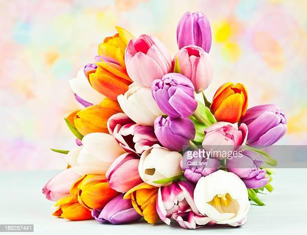 Bouquet of Beautiful Mixed Tulips