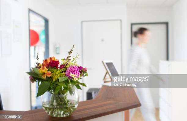 Bouquet of flowers at the reception of a doctor's office on May 25 2018 in BONN GERMANY