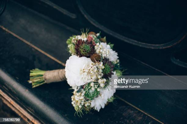 Bouquet of flowers on table