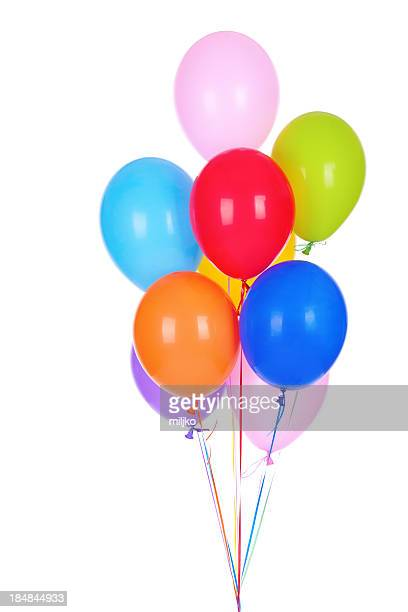 Bouquet of multicolored baloons