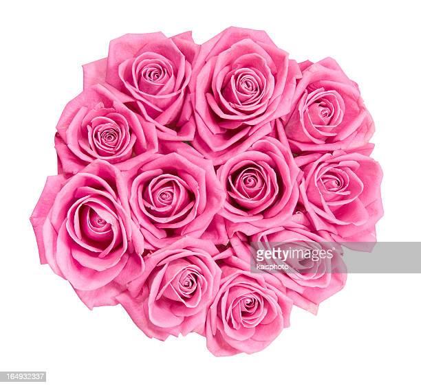 bouquet de rosas cor de rosa - ramo parte de uma planta imagens e fotografias de stock