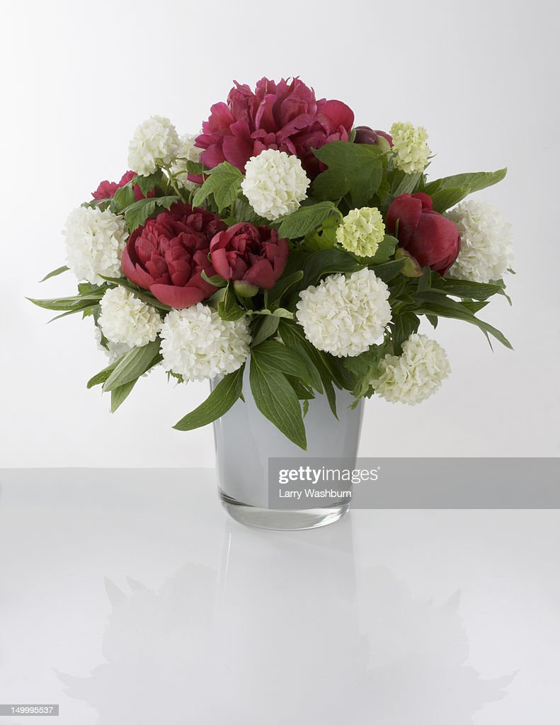 A bouquet of red and white flowers in a vase stock photo getty a bouquet of red and white flowers in a vase stock photo reviewsmspy