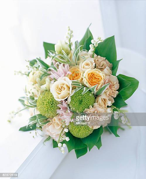 Bouquet of rose,carnation and lily of the valley.