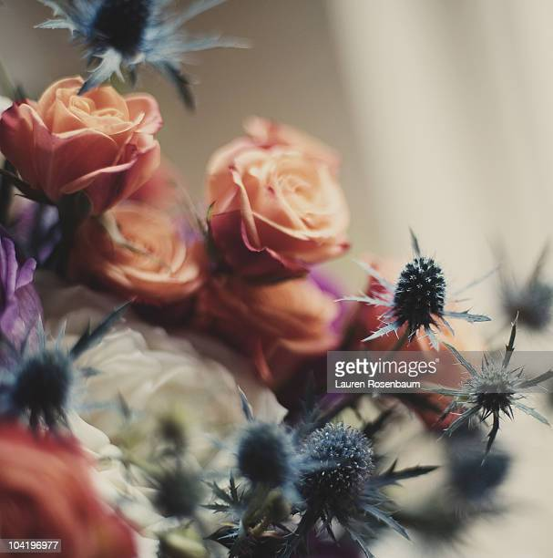 bouquet with thistles