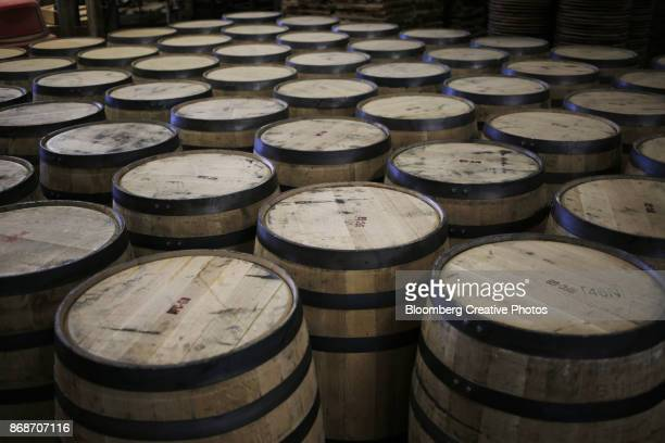 bourbon barrel manufacturing - kentucky stock pictures, royalty-free photos & images
