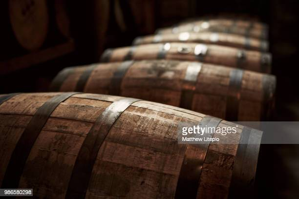 bourbon barrels in kentucky, usa. - whisky stock photos and pictures