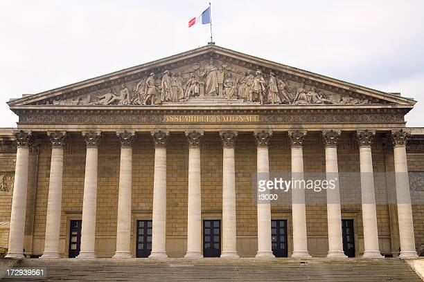 palais bourbon - national assembly stock photos and pictures