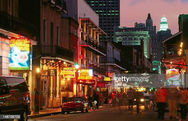 Bourbon Street in French Quarter, Vieux Carre.