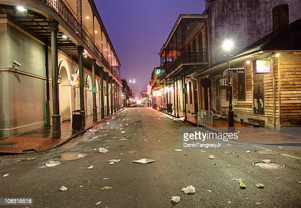 bourbon street, new orleans - new orleans stock photos and pictures