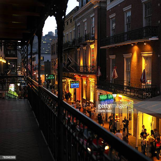 bourbon street, new orleans - new orleans french quarter stock photos and pictures