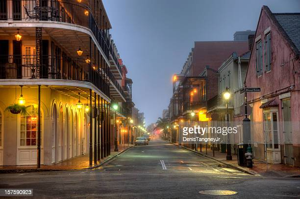 bourbon street - new orleans french quarter stock photos and pictures