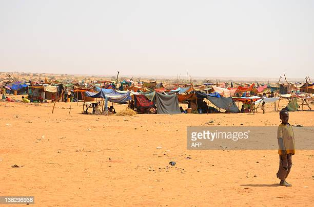 BY Boureima HAMA A child is pictured on February 4 2012 at a Malian refugees camp in Chinegodar western Niger close to the Malian border The Mali...