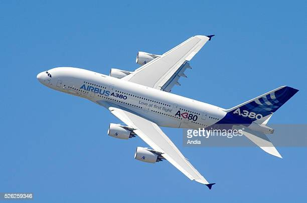 Airbus A380 flight display at the ParisLe Bourget Air Show The A380800 has a design range of 15400 kilometres sufficient to fly from New York to Hong...