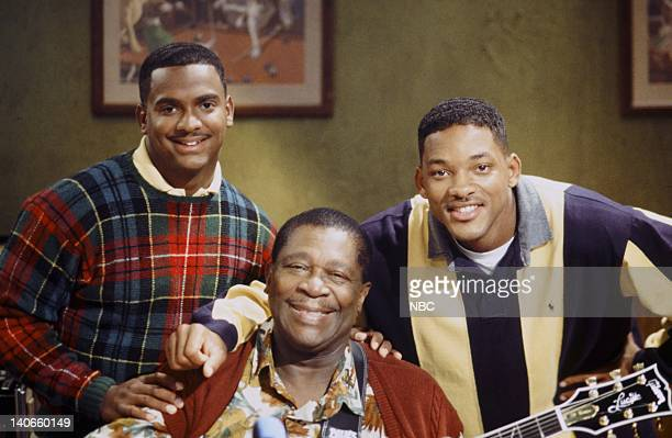 AIR 'Bourgie Sings the Blues' Episode 4 Pictured Alfonso Ribeiro as Carlton Bank BB King as Pappy Will Smith as William 'Will' Smith Photo by Kassa...