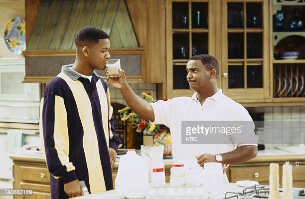 AIR Bourgie Sings the Blues Episode 4 Pictured Will Smith as William 'Will' Smith Alfonso Ribeiro as Carlton Bank Photo by Kassa Zakadi/NBCU Photo...