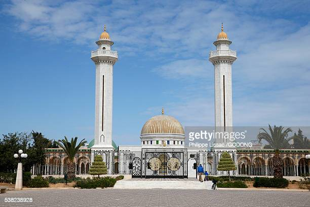 bourguiba mausoleum, monastir, tunisia. - tunisia stock pictures, royalty-free photos & images