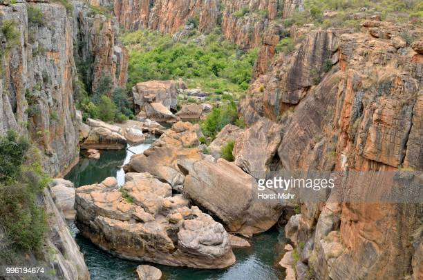 Bourke's Luck Potholes, rock formation in dolomite rock, Blyde River Canyon Nature Reserve, Mpumalanga, South Africa