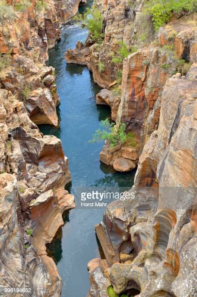 Bourke's Luck Potholes, washouts and potholes, in dolomite rock, Blyde River Canyon Nature Reserve, Mpumalanga Province, South Africa