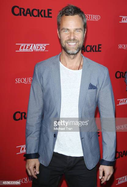 """Bourne arrives at the Crackle Original Series' """"Cleaners"""" and """"Sequestered"""" Summer premiere celebration held at 1 OAK on August 14, 2014 in West..."""