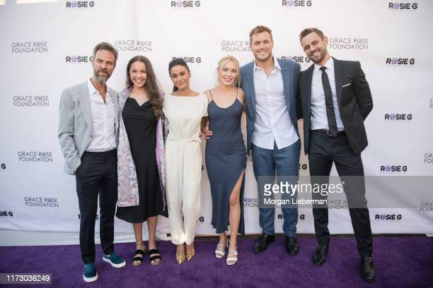 Bourne, Grace Rose, Emmanuelle Chriqui, Cassie Randolph, Colton Underwood, and Nick Viall arrive at the 16th Annual Grace Rose Foundation Fashion...
