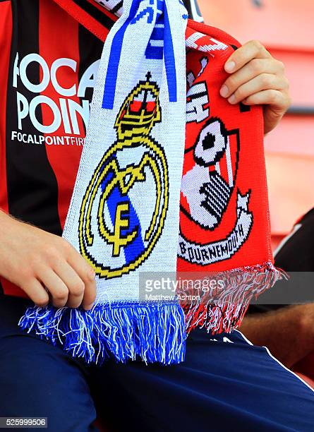 A Bournemouth and Real Madrid scarf