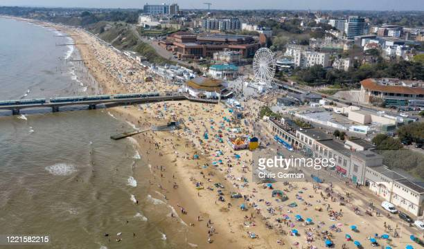 Bournemouth Beach in April 19 2019 on Bournemouth England