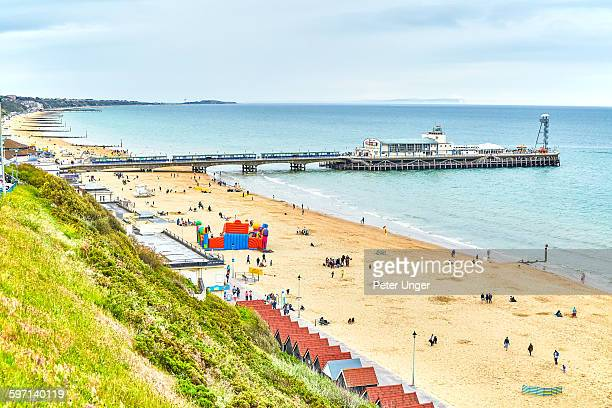 bournemouth beach,dorset - tourist resort stock pictures, royalty-free photos & images